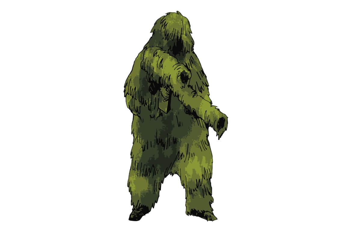 サバゲーでのギリースーツの画像