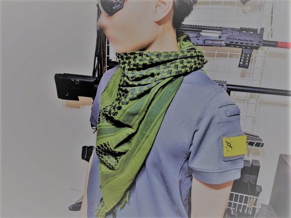 アフガンストールのアフガン巻き