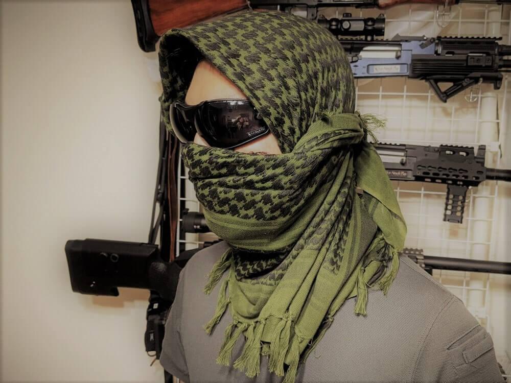 アフガンストールのゲリラ巻き